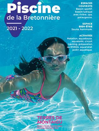 Photo de couverture : Dépliant saison 2021/2022 Piscine de la Bretonnière Terres de Montaigu