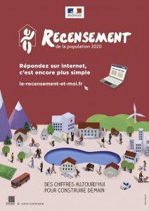 Affiche recensement population 2020 Montréverd